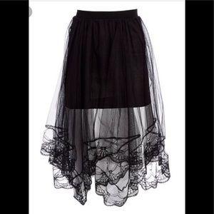 Dresses & Skirts - New Black Mesh-Overlay